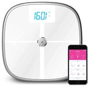 Test Personenwaage - Bluetooth Wi-Fi Smart Waage Körperwaage Körper Analyzer, Körper Statistik Messung,Benutzererkennung, Baby Waage